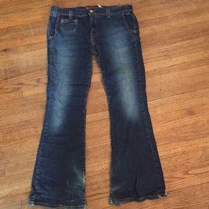 Levi's super low junior size 11 flared jeans